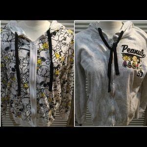 PEANUTS szL REVERSIBLE Snoopy zip hoodie cott/poly